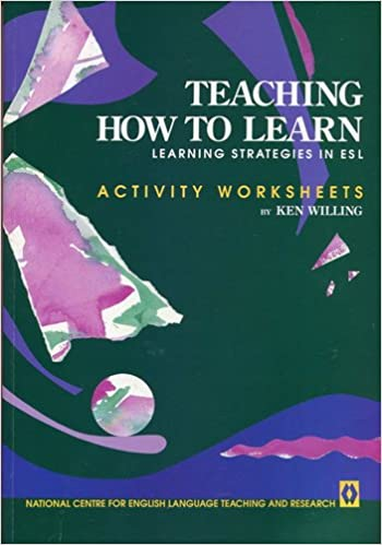 Teaching How to Learn: Learning Strategies in ESL - Activity ...