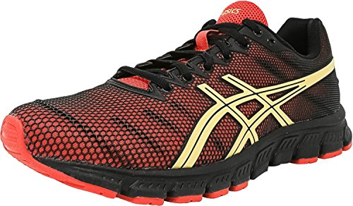 ASICS Men's JB Elite TR Wrestling Shoe, Black/Olympic Gold/Red, 7.5 M US by ASICS