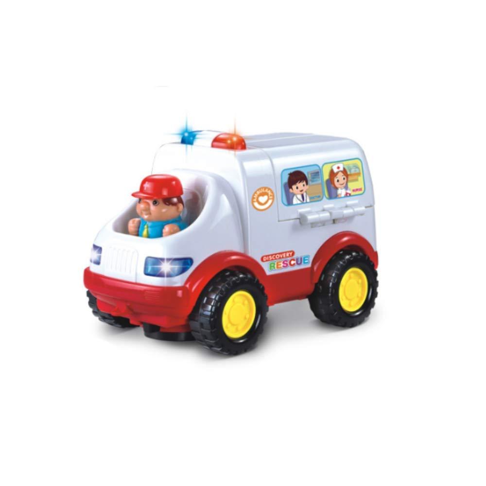WANGQW Allmächtige Krankenwagenlichtmusik-Universalauto-Früherziehung Pädagogische Spielwaren Babyhausdoktoren