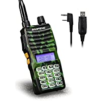 Baofeng - UV-5XTP 8W Dual Display VHF136-174MHz UHF400-520MHz Handheld Two-way Radio Standby Transceiver Walkie Talkie+Programming Cable