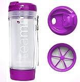 Teami BPA Free Plastic Tumbler, Purple, 13.5 Oz.