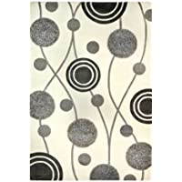 Safavieh Soho Collection SOH249A Handmade Ivory and Grey Premium Wool Square Area Rug (6 Square)