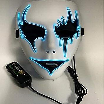 SOUTHSKY Moda brillante, azul frio luz, Fox mascara para fiesta,Máscara de luz