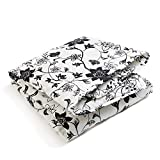 Brooklyn Born Organic Quilt - Modern Floral, Black/White, One Size