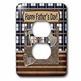 Beverly Turner Fathers Day Design - Tool Box, Hatchet, Drill, Hammer, Wrench, Pliers, Happy Fathers Day - Light Switch Covers - 2 plug outlet cover (lsp_239591_6)