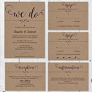 Amazon Com Customized Wedding Invitation Response Cards R S V P