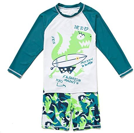 Baby//Infant Swimwear Set Long-sleeved Set of 2 with UV Protection 50 Landora/® and Oeko-Tex 100 Certification in Turquoise