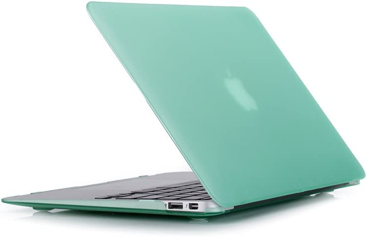 RUBAN Plastic Hard Case Cover for MacBook Air 11 Inch (Models: A1370 and A1465), Green