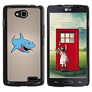 LECELL -- Funda protectora / Cubierta / Piel For LG OPTIMUS L90 / D415 -- Funny Laughing Shark --