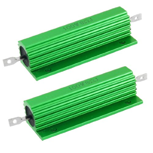 Non Inductive Resistor - uxcell 100W 8 Ohm Screw Tap Mounted Aluminum Housed Wirewound Resistors 2 Pcs