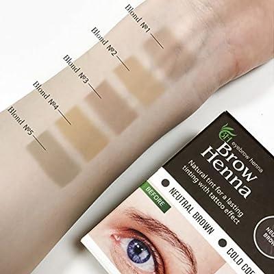 BH Brow Henna vial – Cejas Color (Tattoo Efecto) Mantiene hasta 6 ...