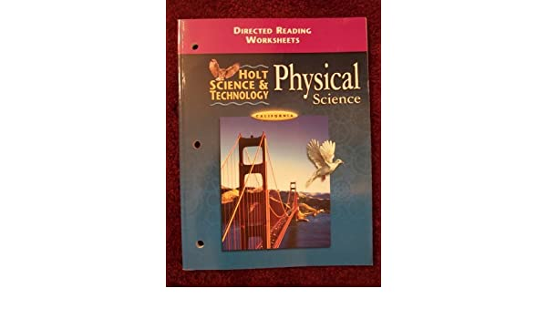 Amazon.com: Holt Science and Technology, California Directed ...