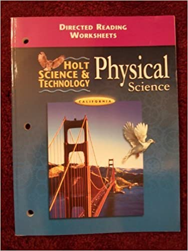 Worksheet Holt Physical Science Worksheets amazon com holt science and technology california directed reading worksheets physical teacher edition