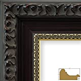 Craig Frames Devereux, 24 by 36-Inch Picture Frame, Antique Brushed Mahogany with Ornate Gold