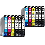 BEFON Remanufactured for Epson 220XL 220 Ink Cartridges High Yield Compatible with Epson XP-420 WF-2760 WF-2630 WF-2650 WF-2660 WF-2750 XP-320 XP-424 Printer 12 Packs(2 Set + 4 Black)