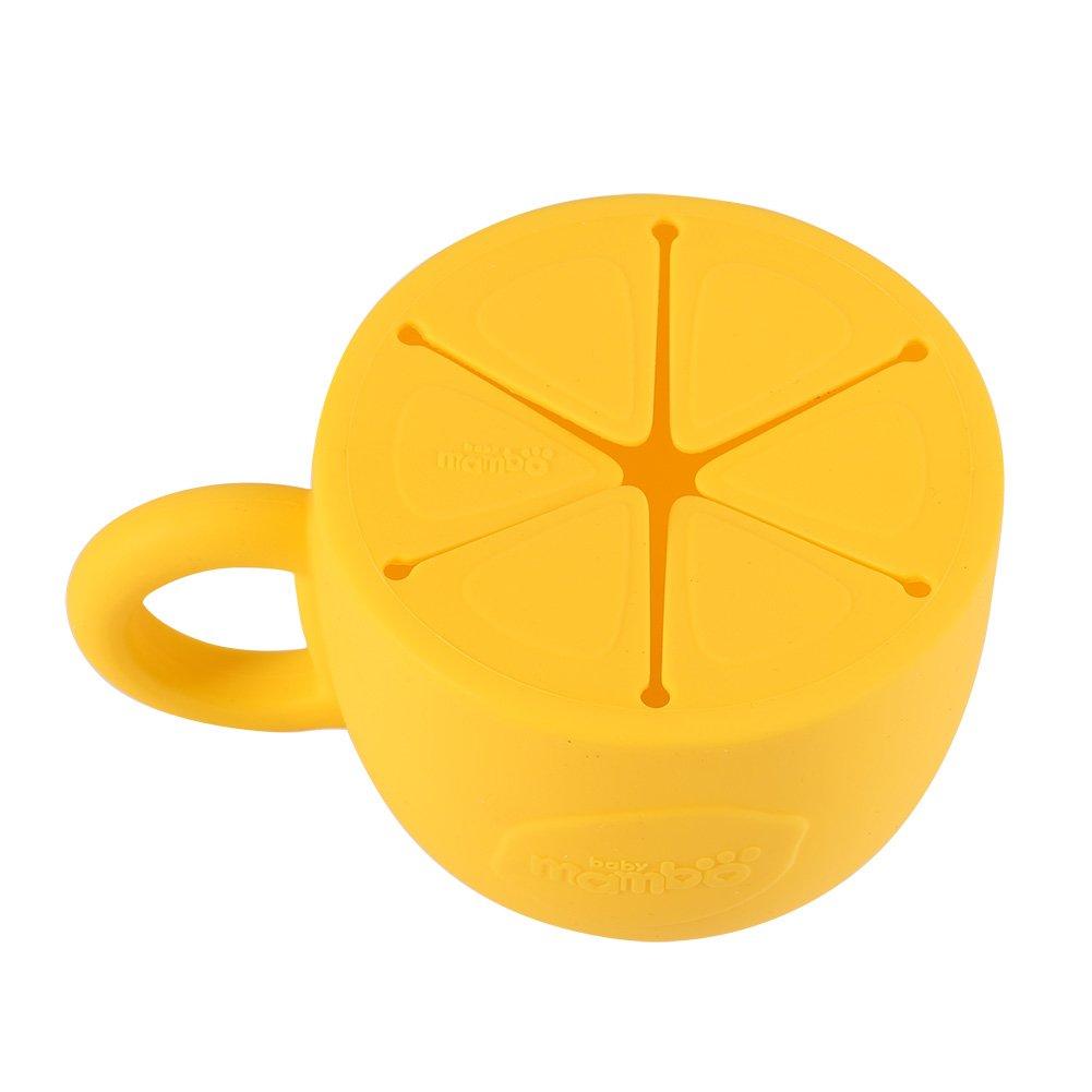 Amarillo Fdit Copa de Snack de Silicona sin Derrame Taz/ón de Snack Dispensador de Cereal para Beb/é Suave Copa de Snack Resistente a P/érdidas a Prueba de Derrames para Ni/ños
