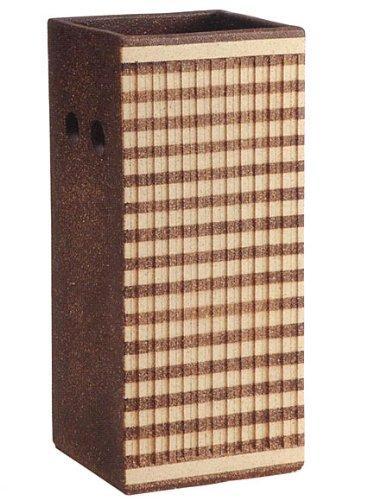 信楽焼陶器 傘立 ストライプ正角傘立 高さ50.0cm 7118-07 B00D0JTLNA