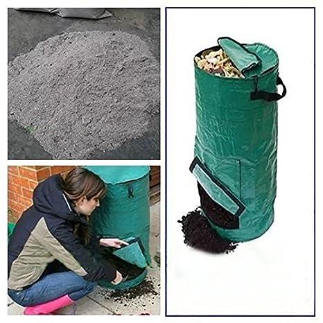 Amazon.com: Bolsas Compost, Verde Oscuro Gusano Compost Bin ...