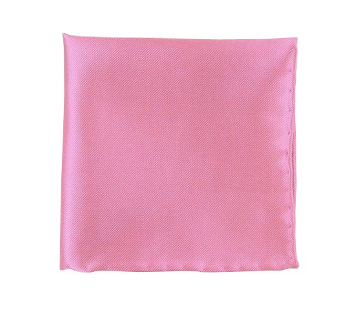 100% Woven Silk Baby Pink Solid Twill Pocket Square