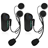 FreedConn 2x Waterproof Wireless Bluetooth Intercom / Mus...