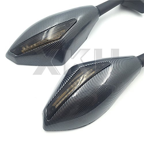 XKH- Carbon Turn Signal Mirrors with Smoke Lens Fit For Suzuki GSXR 600/750 2001-2005 2009-2012/GSXR 1000 2001-2005, 2009-2012/GSXR 1100 1993-1998/ Hayabusa 1999-2012