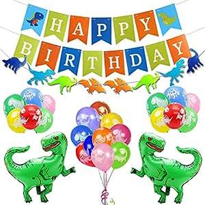 Kit de decoraci n de fiesta cumplea os dinosaurio feliz for Cuartos decorados feliz cumpleanos
