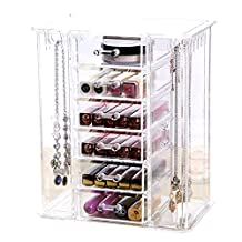 Acrylic Jewelry Hanger Organizer Armoire Cosmetic Storage Case for Bracelet Choice Fun