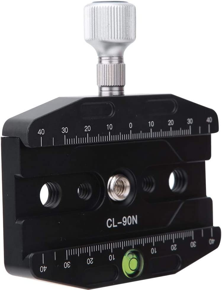 Hopcd Schnellverschlussklemme Acra-Release-Grundplatte CL-90N Schnellverschlussplatte aus Aluminiumlegierung f/ür Stativ-Einbeinstativ f/ür AS-Standard-Schnellverschlussplatte