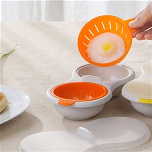 Microwave Oven Plastic Omelet Cooker Portable Double Eggs Steamer