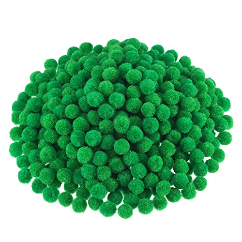 Scouts Girl Swirl Green - Pompoms for Craft Making and Hobby Supplies, 500 Pieces, 1.2 cm/ 0.5 Inch (Green)