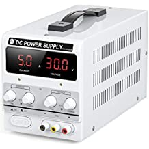 RoMech 30V 10A DC Power Supply Variable - Adjustable Switching DC Regulated Bench Power Supply (Stable Outputs, Alligator Leads & Spare Fuse Included)
