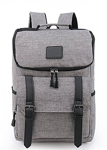 9f9238d09b8 ACEDICHY Lightweight Backpack Laptop Rucksack Bookbag Knapsack for School  Outdoor Travel Hiking--Grey