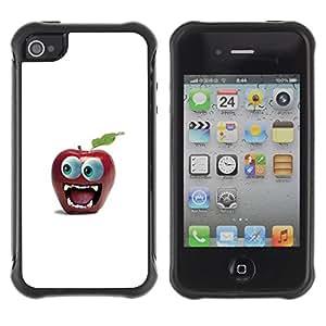 """Hypernova Defender Series TPU protection Cas Case Coque pour Apple iPhone 4 / iPhone 4S [Divertido Gran Manzana Ojo""""]"""