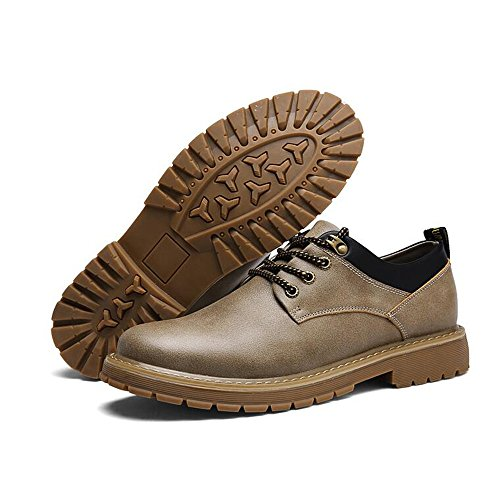 Feifei Shoes 3 Leisure Men's Winter Help Colors Leather Shoes Khaki Low S7CCqwd5