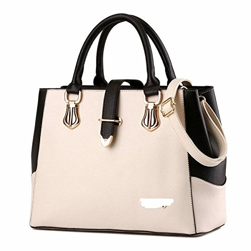 Bags PU Fashion Waterproof Messenger Bags Bags Casual Bags Large Outgoing And Shoulder Tote Tide Bags White Simple Capacity Bags America Bags Europe Convenience Women's Daily 5c0qOwEfgw