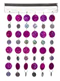 Fuchsia & Silver Magnetic School Locker Curtain/Office Locker Curtain- Must Have Locker Accessory/Decoration
