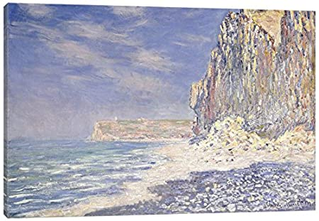 iCanvasART Cliff Near Fecamp 1881 Print 26 x 18