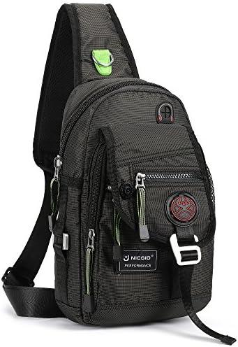 New Nicgid Sling Bag Chest Shoulder Backpack Fanny Pack Crossbody Bags for Me..