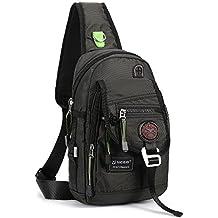Nicgid Sling Bag Backpack Crossbody Bags For Ipad Tablet Outdoor Hiking(Black)