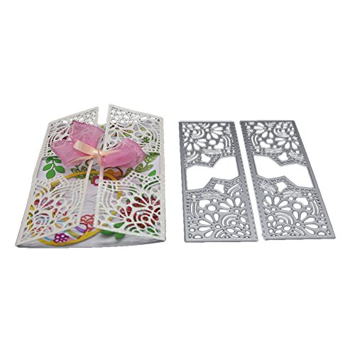 Autumn Water 15.2x11cm Frame Metal Cutting Dies Scrapbooking Dies Metal Easter Craft Dies Cut New 2017 for DIY Decorations Gift Box ()