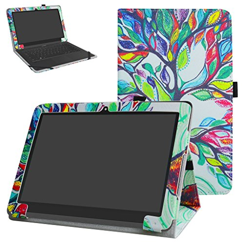 Yuntab B102 Case,Mama Mouth PU Leather Folio 2-Folding Stand Cover for 10.1 Yuntab B102 Android 6.0 Tablet,Love Tree
