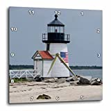 3dRose dpp_206378_2 Massachusetts, Nantucket. Brant Point Lighthouse. Wall Clock, 13 by 13″ Review