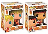 Funko Pop Games Exclusive Street Fighter Special Attack Ryu and Ken Vinyl Figure Set #192 #193