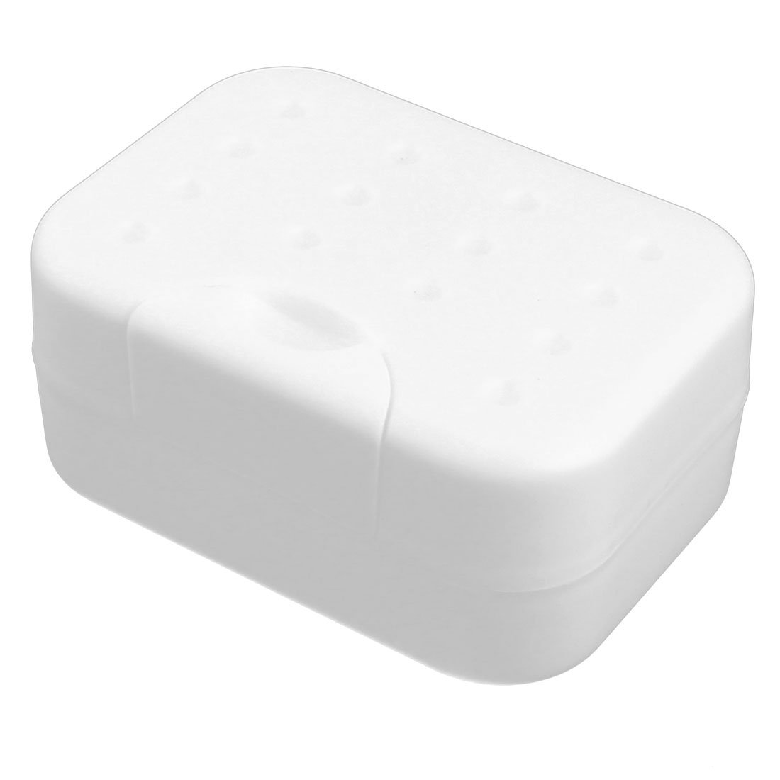uxcell Plastic Household Travel Rectangle Shower Soap Holder Box Dish Container White a16102600ux0373