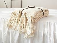 Knit Blanket, Household Decorative Tassel Crochet Throw