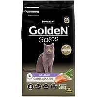 Ração Golden para Gatos Adultos Sabor Salmão - 3kg Premier Pet para Todas Todos os tamanhos de raça Adulto -
