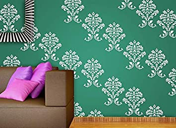 Gallerist Reusable Diy Wall Stencil Painting For Home Decor Generic Design Wall Stencil 1 Stencil Size 12x12 Inches Free 1 Drawing Stencil For