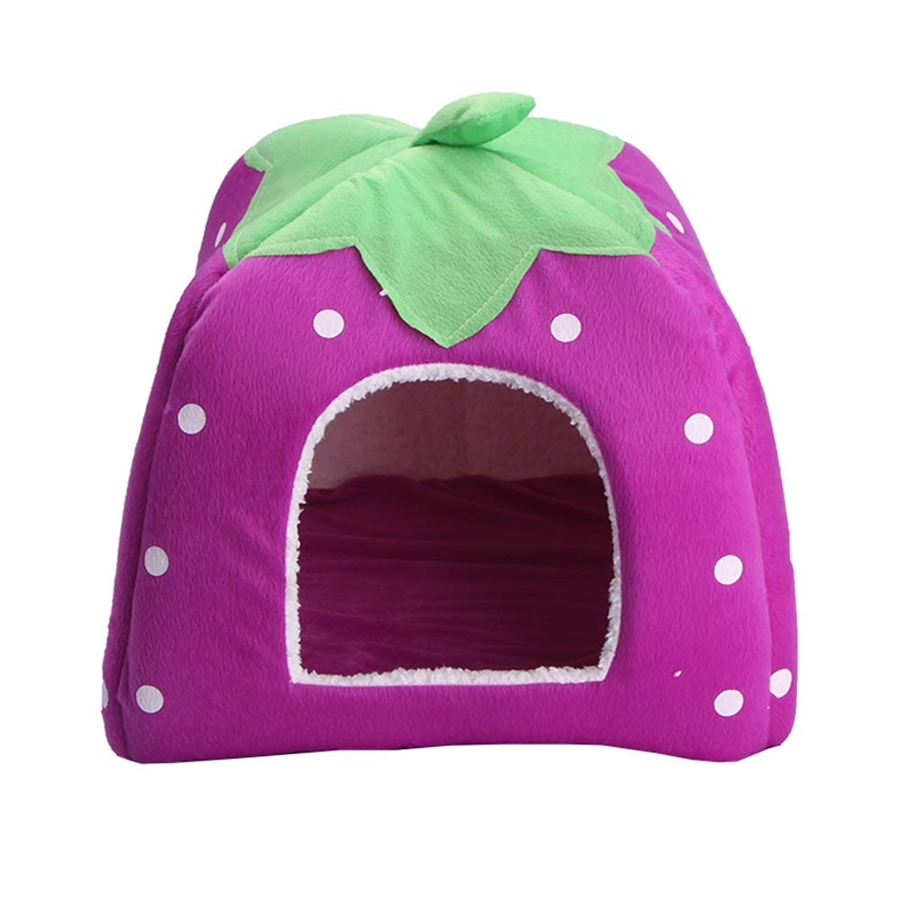 5 M 5 M Pet Nest, Kennel Yurt Strawberry Nest Dog House Dog Mattress Small Dog Cat Litter Pet Cotton Nest (color   5, Size   M)