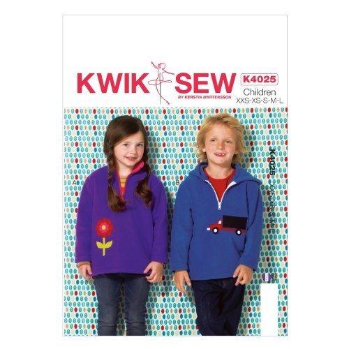 KWIK-SEW PATTERNS K4025 Boys'/Girls' Tops Sewing Template, All Sizes by KWIK-SEW PATTERNS