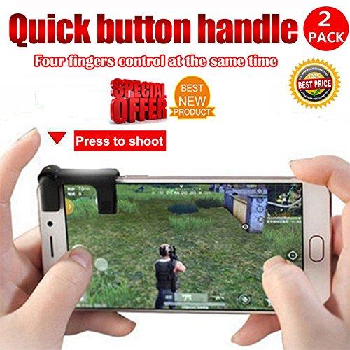 Zantec-Botones(handle grip) de 1 pares de juegos para teléfonos móviles Controlador de tiradores L1-R1